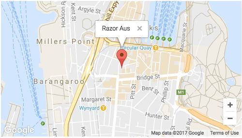 Razor Australia Map